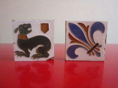 Pair of Vintage Ceramic Tiles