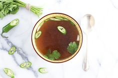 Healing Asian Soup with Ginger, served with a Big Hug for Barbara