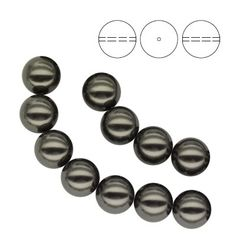 5810 Round Pearl 6mm Black Pearl - 10pcs  Dimensions: 6,0mm Colour: Crystal Black Pearl 1 package = 10 pieces