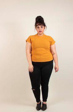 Awesome 80's Mustard Yellow Sweater Shirt Size Large/Medium by VertigoChicago on Etsy