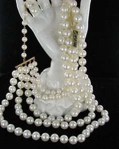 Richelieu 5 Row Multi Strand Necklace with by vintagejewelrylane, $23.99
