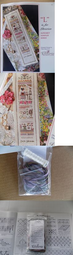 Cross Stitch Patterns 34032: L Is For Librarian By The Victoria Sampler With Accessory Pack -> BUY IT NOW ONLY: $49.95 on eBay!