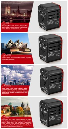 Wadap Smart USB Adaptor International Travel Charger