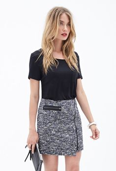Boucle Zipper Skirt #F21Contemporary