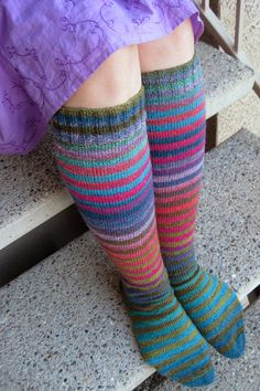 FO: Noro Kneesocks | Flickr. Excellent! Love these