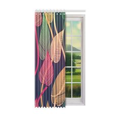 Colorful Autumn Leaves Window Curtain x Piece) Steel Curtain, Dust Collection, Window Curtains, Autumn Leaves, Decor Styles, I Shop, One Piece, Windows, Colorful