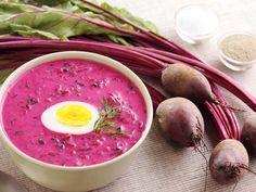 Supă de sfeclă de vară rece - Sloosh - rețete Summer Recipes, Food To Make, Salads, Food And Drink, Vegetables, Summer Food, Soups, Kochen, Summer