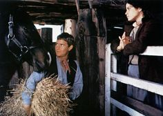 Tom Burlinson and Sigrid Thornton in The Man from Snowy River (1982)