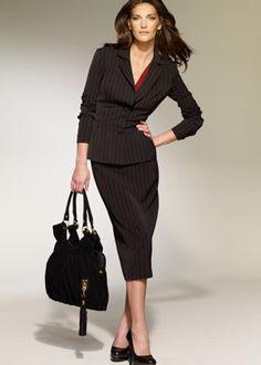 pinstripe suit ♥