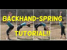 A backhand-spring tutorial! How many of you have been waiting for this? Whoever you are, lets get this video to 65 likes! How To Do Gymnastics, Gymnastics Warm Ups, Flips Gymnastics, Gymnastics For Beginners, Gymnastics Tricks, Gymnastics Skills, Gymnastics Flexibility, Amazing Gymnastics, Gymnastics Training