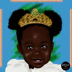 We got Royalty in our DNA. No wonder that we proudly wear our crown. Art Corner, Black Characters, Black Pride, Crown, Mom Daughter, Black Art, How Beautiful, Daydream, African