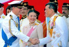♔♔Maha Vajiralongkorn, Crown Prince with his wife, Princess Srirasm, the Royal Consort to the Crown Prince of Thailand♔♔