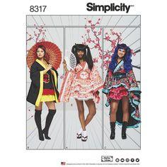 Simplicity Pattern 8317 Misses' Cosplay Kimono Costumes