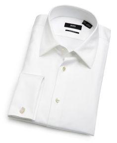 HUGO BOSS Men's Emmery Regular Fit Tux Shirt