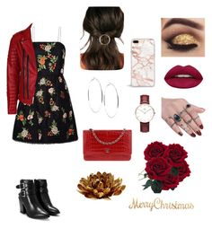 """""""Sans titre #9"""" by paulinepugeaut on Polyvore featuring mode, Alice + Olivia, Nasty Gal, Chanel, JustFab, GUESS, Daniel Wellington, Huda Beauty et AERIN"""