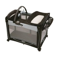 Unisex Baby Playpen Portable Play Yard With Removable Bassinet