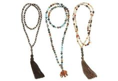 Beaded w/ tassels necklaces