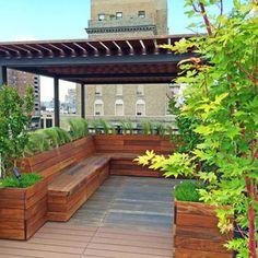 Benches with storage? Modern Deck by Amber Freda NYC Garden Design