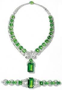 GABRIELLE'S AMAZING FANTASY CLOSET | Cartier Exquisite Peridot & Diamond Necklace and Bracelet