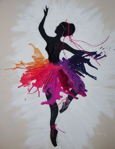 For the dancer, crayon art. crayon art of pure awesome! Crayola Art, Dance Crafts, Melting Crayons, Art Plastique, Diy Art, Creative Art, Art For Kids, Cool Art, Art Drawings