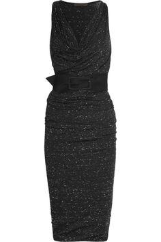 Donna Karan|Belted stretch-jersey dress.