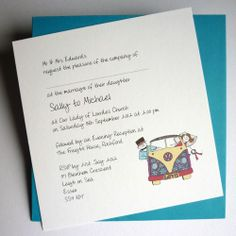 Campervan Wedding Invitation (Flat)
