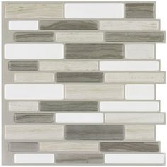 Peel&Stick Mosaics Beige Mist Composite Vinyl Mosaic Scale Peel-And-Stick Wall Tile (Common: 10-in x 10-in; Actual: 9.4-in x 10-in)