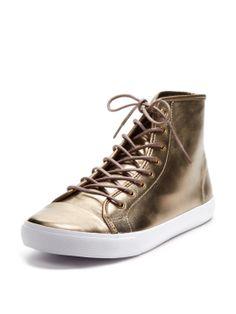 Wellington High-Top Metallic Sneaker by Generic Surplus at Gilt