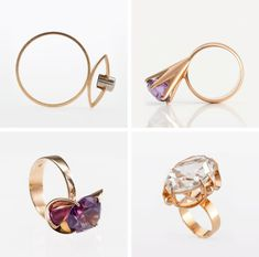 Elis Kauppi Finnish modernist rings and semi-precious stones from the 20's