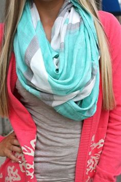 Infinity scarf with neon