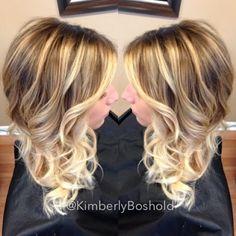 Blonde balayage. #HairByKimberlyBoshold