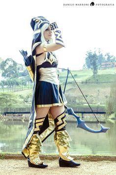 Ashe from League of Legends.  #ashe #lol #leagueoflegends #rainingcosplayer