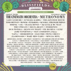 Previous winner of the UK Festival Award for 'Best Small Festival', Blissfields returns to Hampshire from 6-8th July, with as diverse a line-up as you are likely to see – from Metronomy to the Dub Pistols, via DJ Luck & MC Neat, there is something for all tastes, with more acts being announced all the time.    Celebrate the theme of 'The Bizarre', and pick up your Blissfields tickets here: http://festivallers.co.uk/blissfields