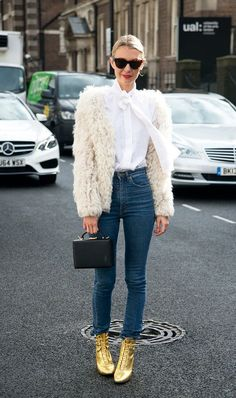 How the Most Stylish Women Pull Off High-Waisted Jeans
