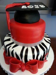 Zebra Party Graduation Cake Ideas and Designs Cute Cakes, Pretty Cakes, Beautiful Cakes, Amazing Cakes, Graduation Celebration, Graduation Cake, Graduation Ideas, Graduation Parties, Occasion Cakes