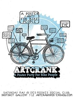 artcrank, a poster party for bike people.
