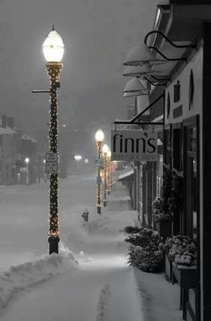 Snow streetscape