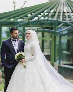 Muslimah Wedding Dress, Muslim Wedding Dresses, Muslim Brides, Wedding Bridesmaid Dresses, Bridal Dresses, Muslim Couples, Bridal Hijab, Hijab Bride, Wedding Hijab