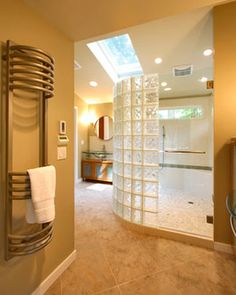 Double Shower with a Touch of Glass - Contemporary - Bathroom - Other Metro - Kitchen + Bath Design + Construction, LLC  Gorgeous glass blocks