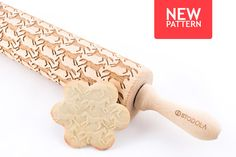 GALLOPING HOURSES - Embossed, engraved rolling pin for cookies by STODOLA