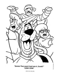 scooby doo colouring pages | ColorMeCrazy.org: Scooby Doo Coloring Pages