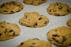 A vegan chocolate chip cookie recipe that tastes just like non-vegan cookies. So there.