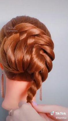 Hairdo For Long Hair, Bun Hairstyles For Long Hair, Diy Hairstyles, Wedding Hairstyles, Braided Hairstyles Tutorials, Hair Style Vedio, Hair Ponytail Styles, Hair Upstyles, Front Hair Styles
