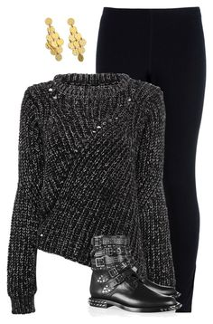 """""""Black And Gold"""" by catfashionlover26 ❤ liked on Polyvore featuring NIKE, Yves Saint Laurent and Stephanie Kantis"""