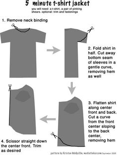Now and Then: Project - 5-minute t-shirt jacket