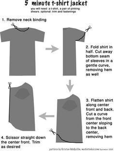 5 minute t-shirt jacket