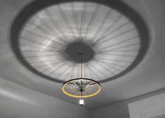 "Bike Wheel Pendant ""Rim Lamp"". €390.00, via Etsy."
