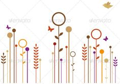 Abstract floral design, vector background  AI EPS 8 and high resolution JPG 35005000 pixel included.