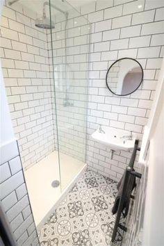 En-suite Shower Room Best Picture For Downstairs Bathroom colours For Your Ta… - Modern Loft Ensuite, Loft Bathroom, Upstairs Bathrooms, Bathroom Renos, Bathroom Interior, Bathroom Ideas, Tiny Bathrooms, Bathroom Plants, Bathroom Inspo