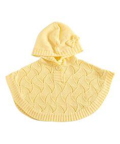 Look at this #zulilyfind! Yellow Hooded Poncho - Infant #zulilyfinds